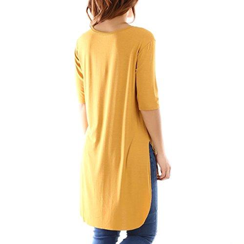 La Modeuse - T-shirt femme à manches courtes Camel
