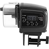 Asixx Alimentador Automático de Peces, Dispensador Automático de Alimento para Peces, con Mini Pantalla, para Alimentar A Los Peces