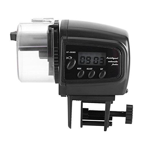 Automatische Aquarium Fischfutter Futterautomat Auto Timer Feeder mit LCD Bildschirm Display Große Kapazität für Wochenende Urlaub Ferien 40g Container Batteriebetrieben für Flocken, Pellets und Table