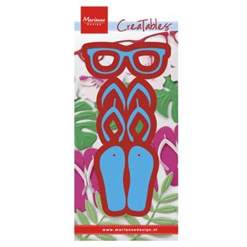 Stanz- und Prägeschablone - Marianne Design - Flip flops & sun glasses