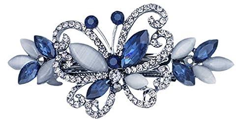 SaySure - Opals Crystal Butterfly Rhinestone Hair clip