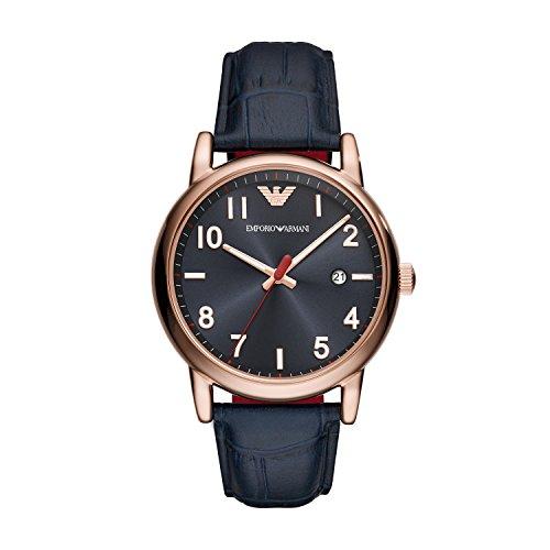 Emporio Armani Reloj Analógico para Hombre de Cuarzo con Correa en Cuero AR11135