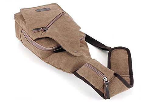 Neue koreanische M?nner diagonal Brust Tasche Multi-Funktions outdoor Herren canvas Tasche Khaki