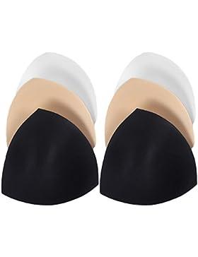 Vococal - 3 Pares de Almohadillas y Rellenos de Sujetador de Esponja Desmontable para Bikini / Traje de Baño /...