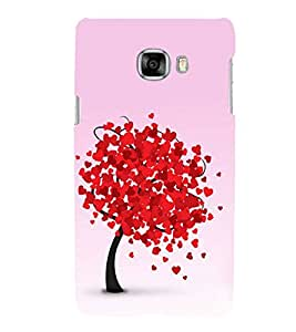 Fuson Designer Back Case Cover for Samsung Galaxy C7 SM-C7000 (Love Love Heart Infactuation Falling In Love Love Tree)
