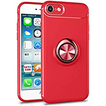 4a170b8c02e Teryei Funda iPhone 7 iPhone 8 Silicona Suave Case Full protección Rotating  Ring Grip Stand Holder