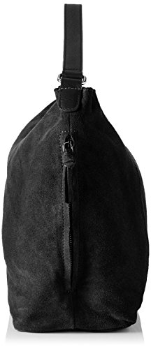 PIECES 17079611, Borse a spalla Donna, 15x31x45 cm Nero (Black)