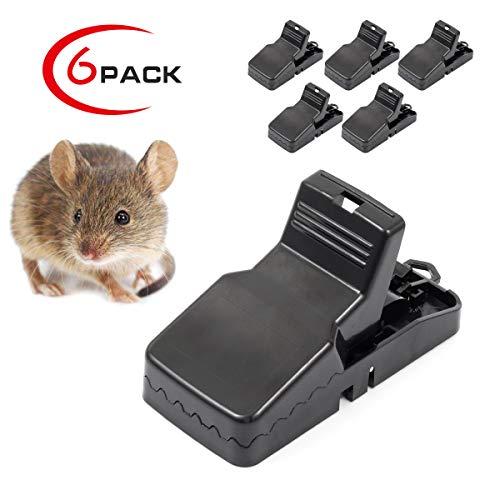 Welltop Mäusefalle 6 stück Rattenfalle Schlagfalle aus Kunststoff Hygienisch Wiederverwendbar effektive Rattenfalle in Haus und Garten