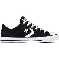 Converse Star Player Ox, Zapatillas de Deporte Unisex Adulto, Negro (Black White 001), 39 EU