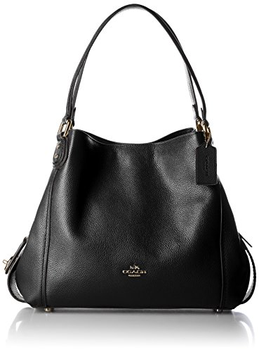Coach Edie 31 Ladies Medium Pebbled Leather Shoulder Handbag 57125 - Coach Pebble Schwarz Leder