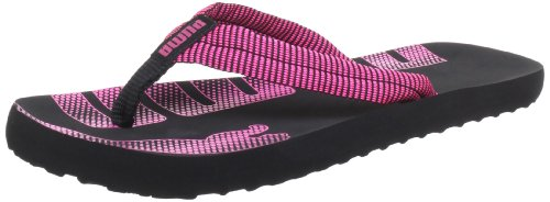 Puma Epic Flip Stripes 354558, Damen Zehentrenner, Schwarz (black-fluro pink 01), EU 35.5 (UK 3) (US 5.5)