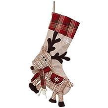 LeKing Bolsa de regalo grande con calcetines de Navidad, adornos navideños, bolsa de dulces