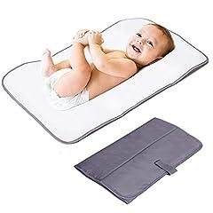 Idea Regalo - Lekebaby Fasciatoio Portatile, Fasciatoio Portatile Kit, Fasciatoio Pieghevole da Viaggio per Bambini, Grigio