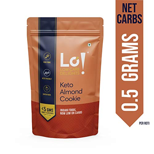 Lo! Foods - Keto Almond Cookies | Only 0.5 g Net Carb Per Cookie | Lab Tested Keto Food Products for Keto Diet | Nutritious Keto Cookies and Snacks - 192g