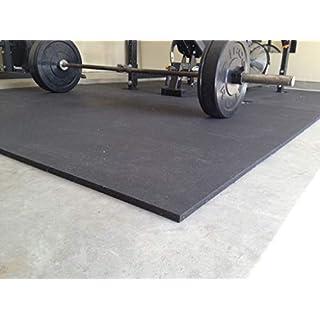 4 x Heavy Duty 12mm Solid Black Rubber Gym Mat   6ft x 4ft Each