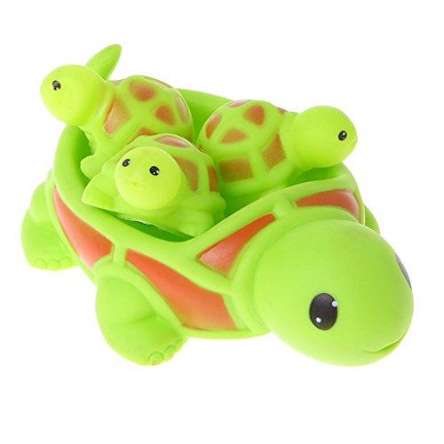 Senoow Baby Kids Badeset Set, niedlichen Tier Float Squeeze Sound quietschende Dusche Wasser Baden Badewanne Spielzeug