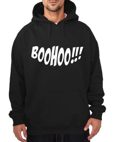 ::: BOOHOO ::: Hoodie ::: Herren, Schwarz /Weiß, Größe XL (Schwarz Zahnfee Kostüm)