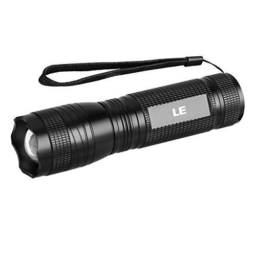 LE Taschenlampe mit UV Licht 300lm Kaltweiß und 395nm UV-Strahler IPX4 wasserfest