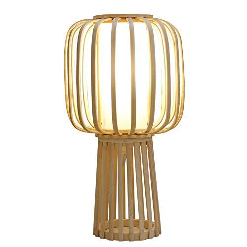 2020 Lámpara de Mesa de bambú Lámpara de Mesa Zen Lámpara de Mesa de bambú Hecha a Mano Lámpara de Mesa Moderna Minimalista decoración Vertical PVC E27 Pantalla CE lámpara de Cabeza Espiral