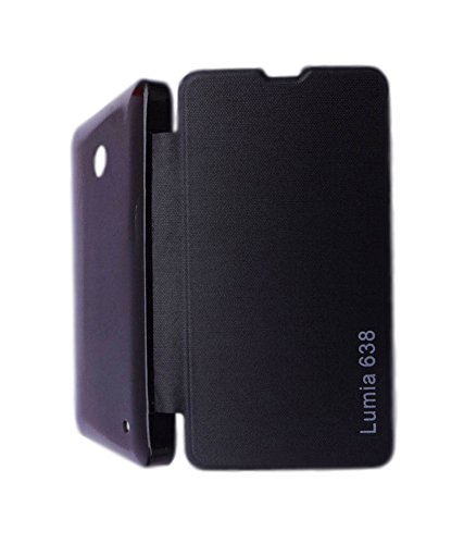 BRYNN Flip Cover For Nokia Lumia 638 -black  available at amazon for Rs.149
