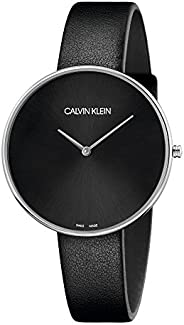 Calvin Klein Womens Quartz Watch, Analog Display and Leather Strap K8Y231C1