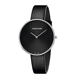 Calvin Klein Womens Analogue Quartz Watch with Leather Strap K8Y231C1