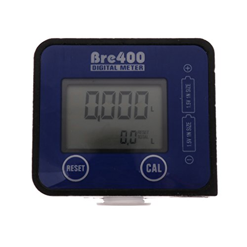 FLAMEER Wasserzähler LCD-Digitalanzeige Elektronischer Durchflussmesser Öl Flüssigkeit Mit LCD Anzeige -