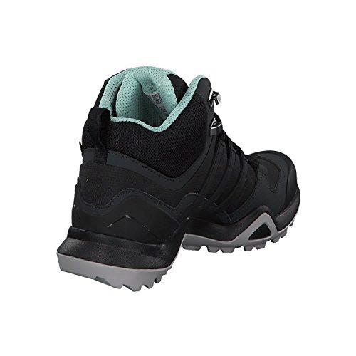 adidas Terrex Swift R2 Mid Gore-Tex Womens Botte de Marche - SS18 noir/noir/vert cendre