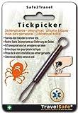 TravelSafe rostfreie Zeckenzange Zeckenpinzette Erste Hilfe