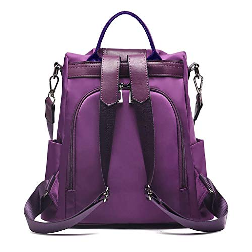 Ledertasche, Schultertasche, Geschenk, Handgefertigte Tasche,Damenmode einfarbig Rucksack Anti-Theft Bag Wild Umhängetasche wasserdicht ()