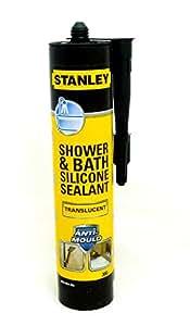 stanley bad dusche anti schimmel silikon durchscheinend 300ml baumarkt. Black Bedroom Furniture Sets. Home Design Ideas