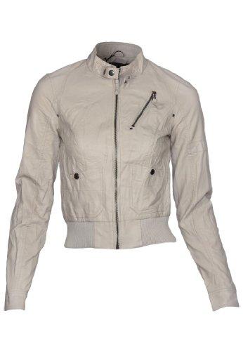 VERO MODA Jacke Joey Short Pu Jacket Booster, Größe:S;Farbe:Dark Navy