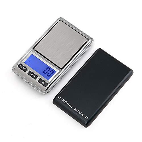 Balance électronique,500g * 0.1g Mini Balance Numérique de Poche pour Bijoux,avec une spécification anglais, un cordon, un sac PU, une pile bouton.