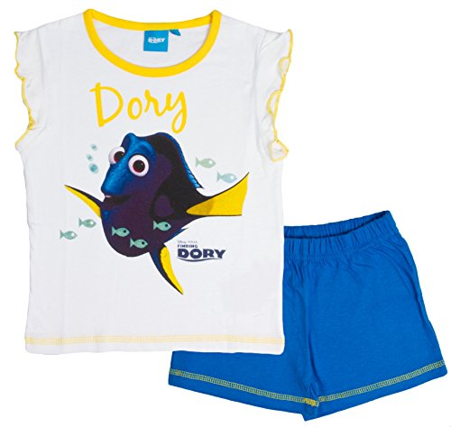Disney Girls Finding Dory Short Pyjamas Nemo Short Sleeve PJS Kids Size 2-8