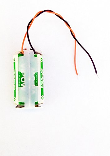 pke Ni-Mh AA Rechargeable Battery 2500mah 1.2V, 2 Pieces with Jack