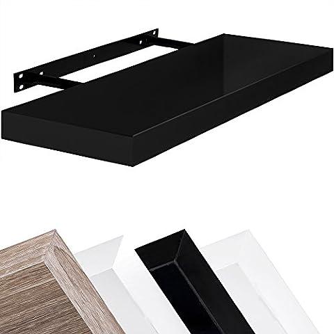 Wall Shelf Floating Shelf Bookcase Kitchen Shelving Various Sizes 50–110cm/Selection of Colours 90 cm