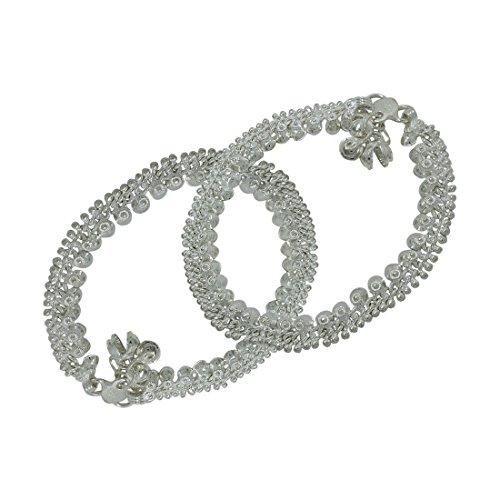 Frabjous Designer German Silver Anklets for her/diwali gift/birthday gift/garba accessory/anklet for girls/Anklet...
