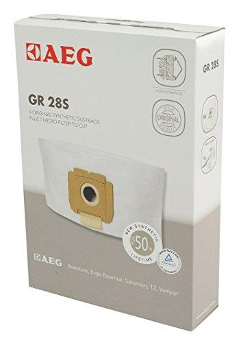 AEG 900256542 vier Synthetik Staubsaugerbeutel, Gr. 28S