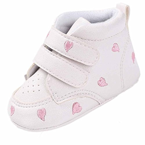 manadlian Chaussures Bébé Chaussures antidérapantes pour Chaussures en Forme de Coeur pour bébés,pour 0-18 Mois