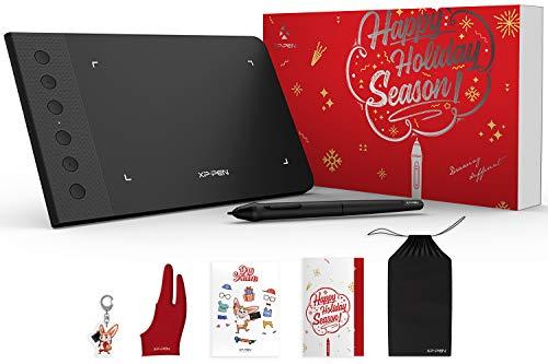XP-PEN G640S Grafiktablett Pen Tablett OSU! Spielen 6 x 4 Zoll und 8192 Druckstufen mit 6 Express Tasten Geschenkpaket Gift Wrap (G640S)