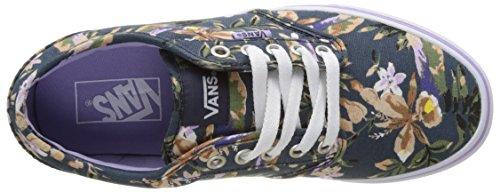 Vans Wm Atwood, Scarpe da Ginnastica Basse Donna Blu (Floral)