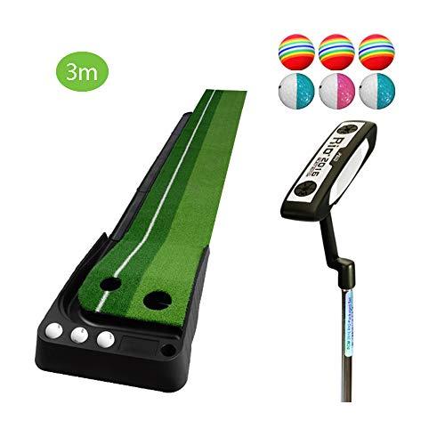 TESITE Home Golf Putting Esercizi per Bambini Tappetino per Esercizi per Adulti con Set di Cingoli (3m * 41cm)
