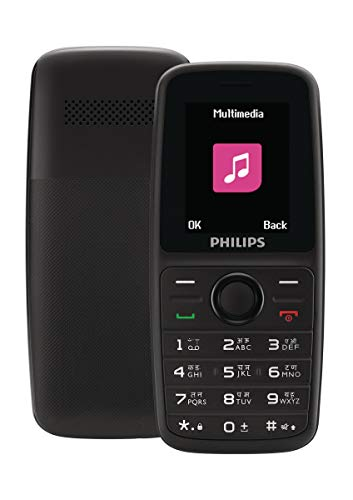 Philips Xenium E108 Dual SIM Mobile Phone-Black