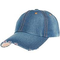 Gorra de Béisbol SUNNSEAN de Vaquero Moda para Hombre y Mujer Jean Sport  Hat Casual Denim 6f2b1d11100