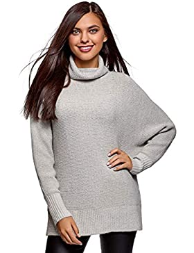 oodji Collection Mujer Jersey Largo de Manga Murciélago