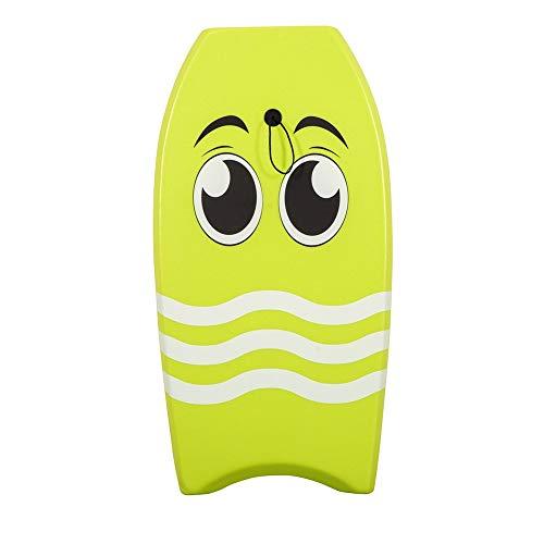 ChenBing-swi Slick Board Bodyboard 39 Zoll Slick Board Summer Beach Surfen Bodyboard XPE + EPS Kern Mit Handgelenk Leine Für Kinder und Erwachsene (Farbe : Grün, Größe : 39 inch) (Bodyboard 39)