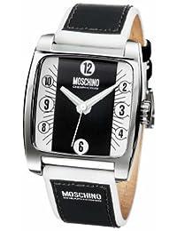 Moschino MW0004 - Reloj analógico de caballero de cuarzo con correa de acero inoxidable negra - sumergible a 30 metros
