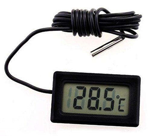 Kühlschrank-Thermometer, Switchali LCD Digital Thermometer -50 ~ +110 ° C mit Sensor Tester für Kühlschrank Freezers Aquarium -