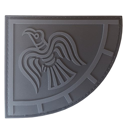 2AFTER1 Blackout ACU Rare Norse Viking Raven Banner Odin God of War Morale PVC Rubber Touch Fastener Patch -
