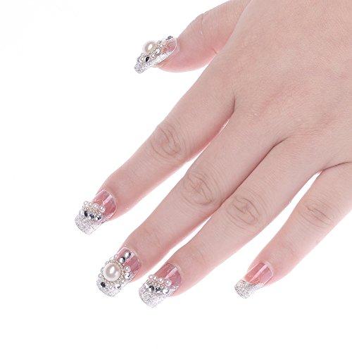 molie-24pcs-set-outils-de-conception-fini-faux-ongles-brillant-mariee-ongles-patch-manucure